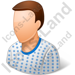 Patient Male Light Icon, PNG/ICO, 256x256