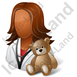 Pediatrician Female Dark Icon