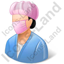 Surgeon Female Light Icon