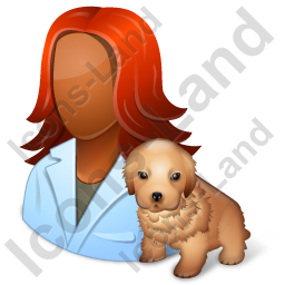 Veterinarian Female Dark Icon