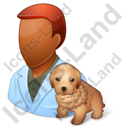 Veterinarian Male Dark Icon