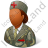 Army Nurse Female Dark Icon