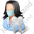 Dentist Female Light Icon, PNG/ICO, 48x48