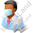 Dentist Male Dark Icon, PNG/ICO, 48x48