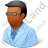 Ophthalmologist Male Dark Icon, PNG/ICO, 48x48