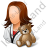 Pediatrician Female Light Icon