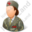 Army Nurse Female Light Icon, PNG/ICO, 64x64