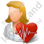 Cardiologist Female Light Icon