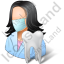 Dentist Female Light Icon, PNG/ICO, 64x64