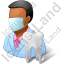 Dentist Male Dark Icon, PNG/ICO, 64x64