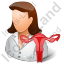 Gynaecologist Female Light Icon