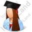 Medical Student Female Light Icon