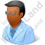 Ophthalmologist Male Dark Icon, PNG/ICO, 64x64
