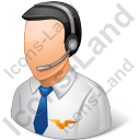 Air Traffic Controller Male Light Icon