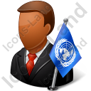 Ambassador Male Dark Icon, PNG/ICO, 128x128