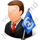 Ambassador Male Light Icon