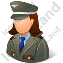 Army Captain Female Light Icon, PNG/ICO, 128x128