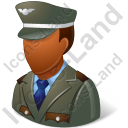 Army Captain Male Dark Icon
