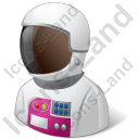 Astronaut Female Dark Icon