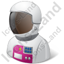 Astronaut Female Light Icon