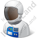 Astronaut Male Light Icon
