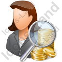 Auditor Female Light Icon, PNG/ICO, 128x128