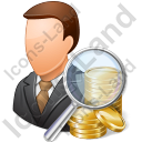 Auditor Male Light Icon