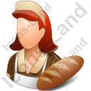 Baker Female Light Icon, PNG/ICO, 128x128