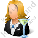Bartender Female Light Icon