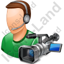 Cameraman Male Light Icon, PNG/ICO, 128x128