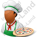 Chef Pizza Male Dark Icon, PNG/ICO, 128x128