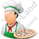 Chef Pizza Male Light Icon, PNG/ICO, 128x128