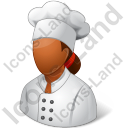 Chef Female Dark Icon, PNG/ICO, 128x128