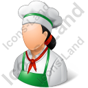 Cook Female Light Icon