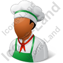 Cook Male Dark Icon, PNG/ICO, 128x128