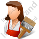 Decorator Female Light Icon