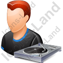 Disc Jockey Male Light Icon, PNG/ICO, 128x128