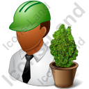 Environmental Engineer Male Dark Icon, PNG/ICO, 128x128