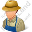 Farmer Male Light Icon