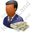 Financier Male Dark Icon, PNG/ICO, 128x128