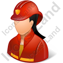 Firefighter Female Light Icon, PNG/ICO, 128x128