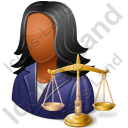 Lawyer Female Dark Icon, PNG/ICO, 128x128