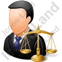 Lawyer Male Light Icon, PNG/ICO, 128x128