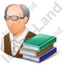 Librarian Male Light Icon