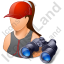 Lifeguard Binoculars Female Light Icon, PNG/ICO, 128x128