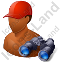 Lifeguard Binoculars Male Dark Icon