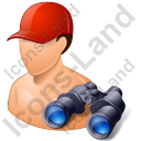 Lifeguard Binoculars Male Light Icon, PNG/ICO, 128x128