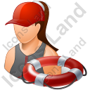 Lifeguard Lifebuoy Female Light Icon