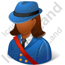 Mail Carrier Female Dark Icon, PNG/ICO, 128x128
