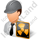 Nuclear Engineer Male Light Icon